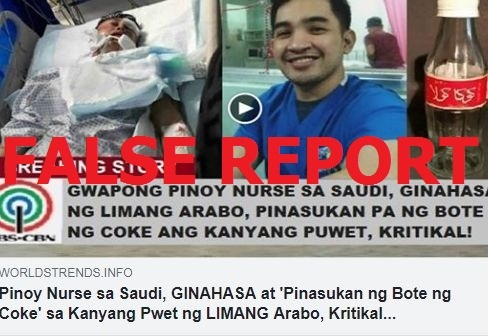 No, this Filipino nurse was not sexually assaulted in Saudi Arabia