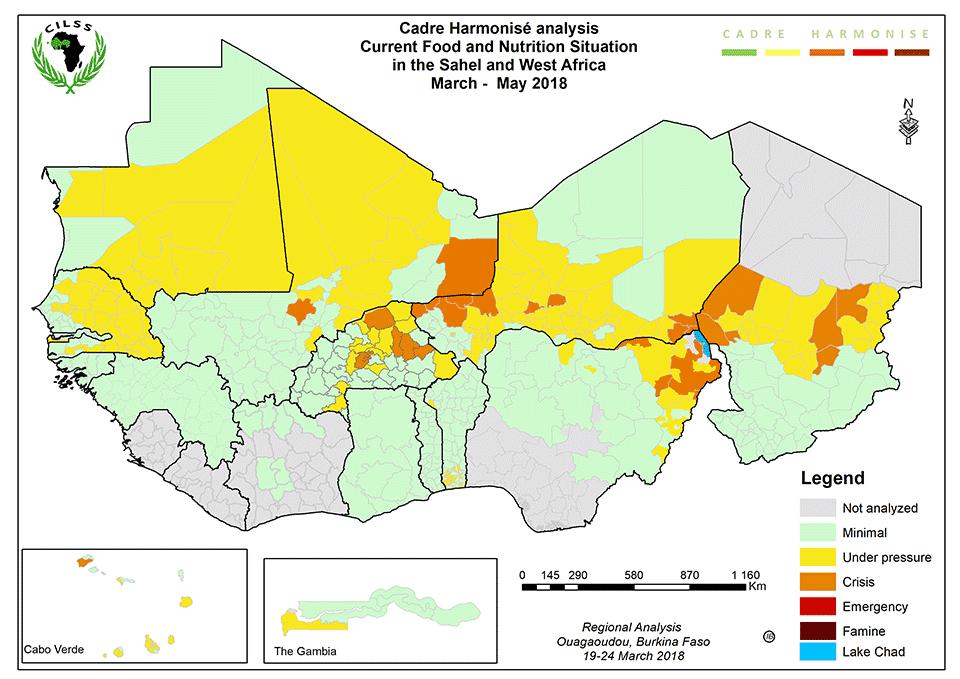Carte du cadre intégré de classification de la sécurité alimentaire / FAO