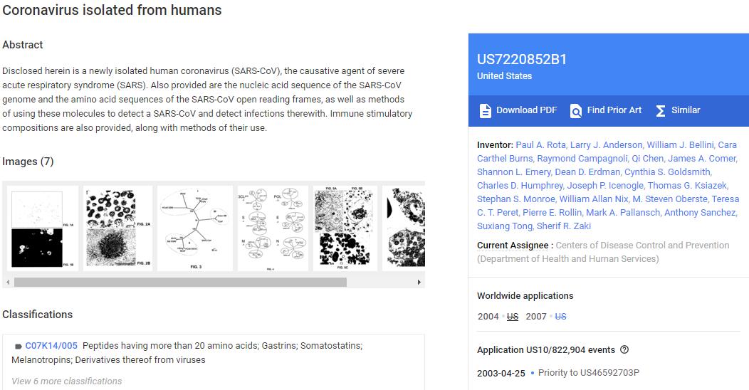 Cuplikan Layar Dari Paten Yang Dimiliki Cdc Di Google Patents Diambil Pada 23 Januari 2020