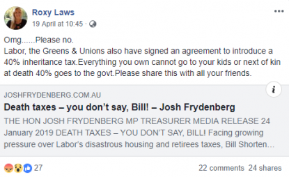 No, Australia's Labor Party, the Greens and the ACTU did not sign an