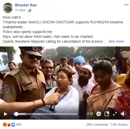 No, this video does not show an Indian politician expressing