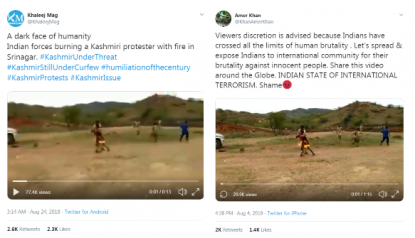 This video shows a man who set himself on fire in Rajasthan