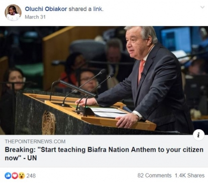 No, the UN secretary-general hasn't called on Nigeria to start