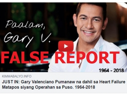No, Filipino singer Gary Valenciano has not died | AFP Fact Check