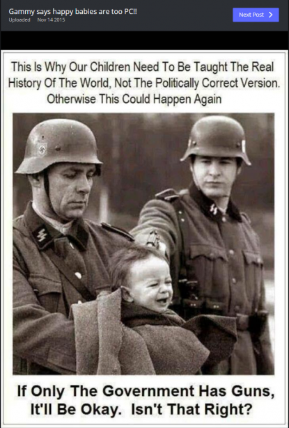 Nazi soldiers shooting a baby: the picture is from a film