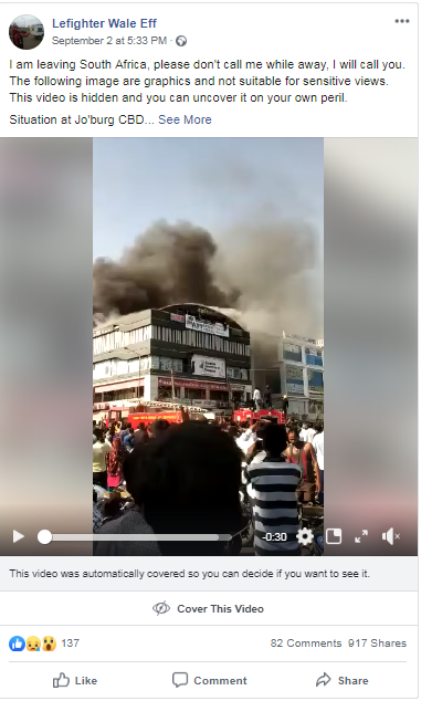 This video shows a deadly fire in India, not the recent anti