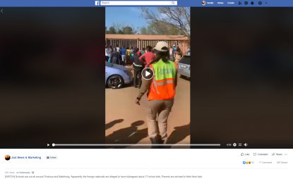 False kidnapping rumours spread during South Africa violence