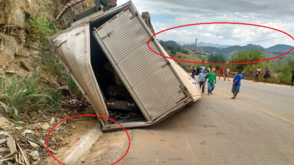 How Google Maps Images Show That This Truck Overturned In Brazil