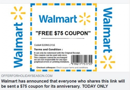 walmart started buy coupon