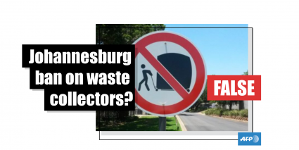 No, Johannesburg has not banned informal waste collectors