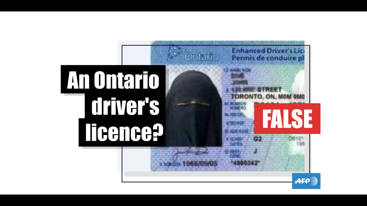Drivers must show their entire face in licence photos in Ontario,