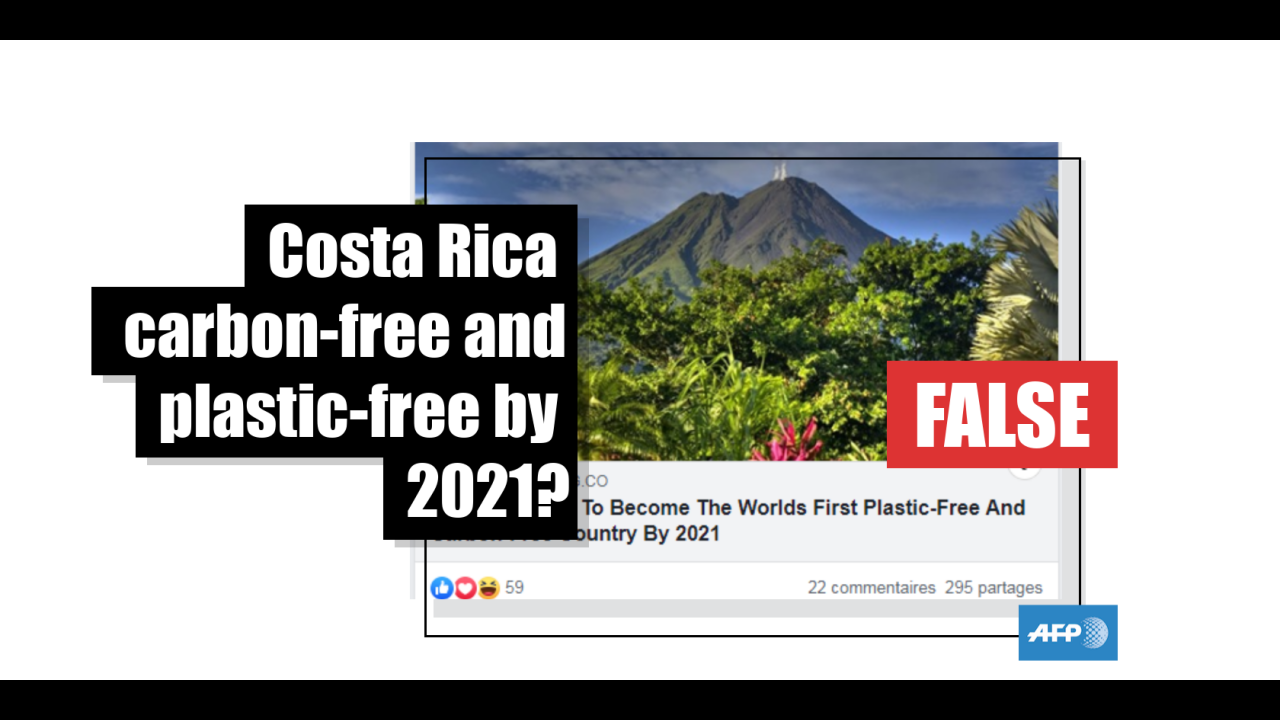 To Claim That Costa Rica Will Be Carbon Free And Plastic Free By 2021 Is A Big Exaggeration Fact Check