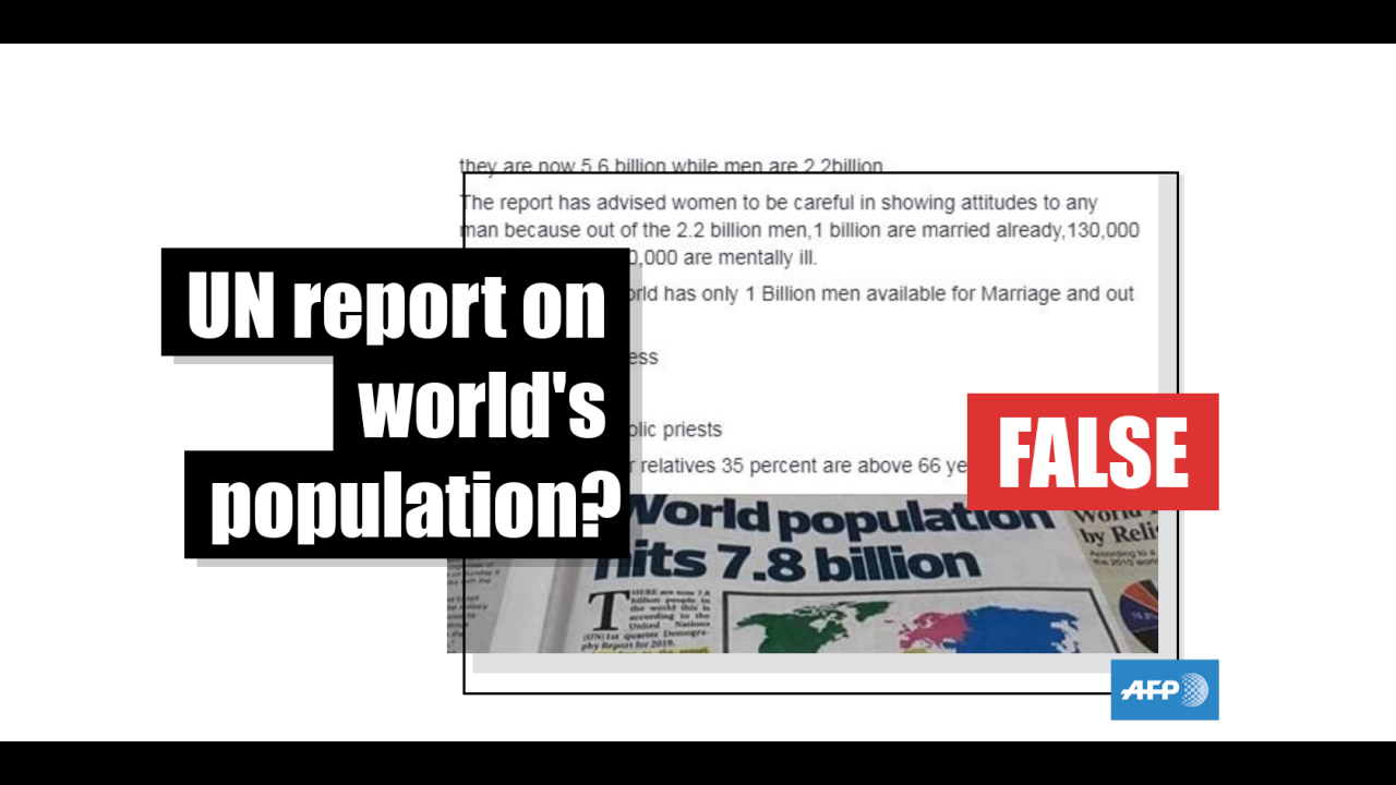 NoThis On Report Check Is Fact World's PopulationAfp Not Un lJcK1TF