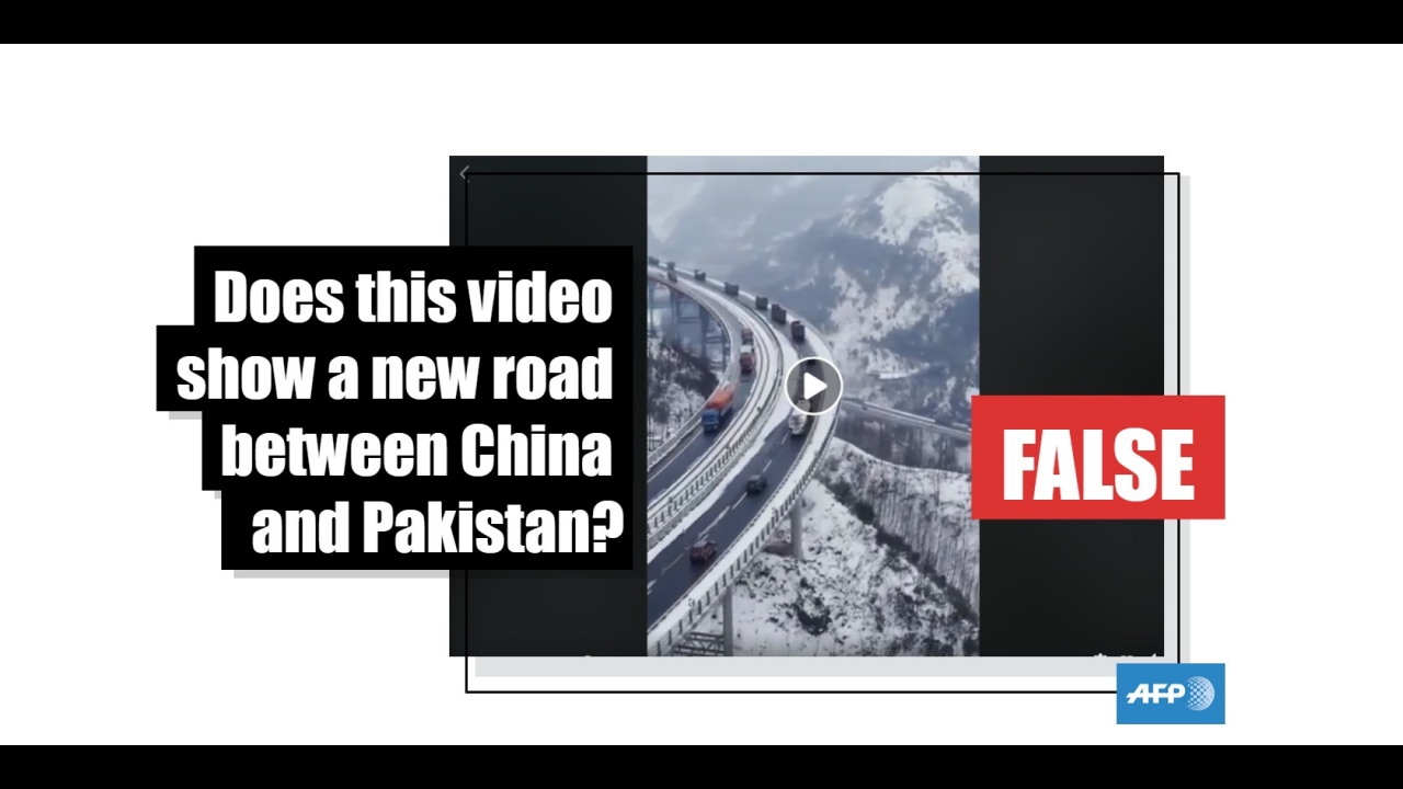 No This Video Does Not Show A New Highway Between China And Pakistan Fact Check