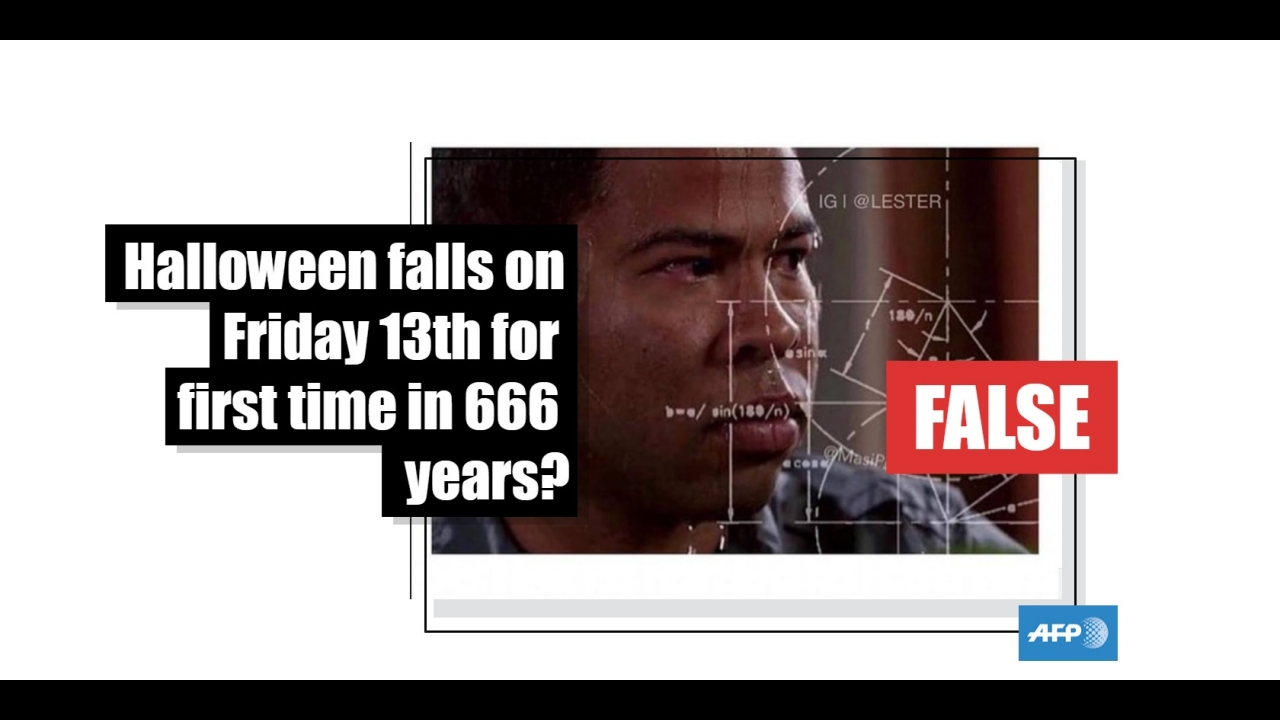No, Halloween will not fall on Friday the 13th this year ...