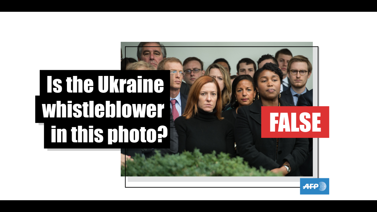Meme using AFP photo falsely claims to show Trump-Ukraine scandal